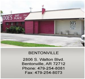 Doe's Eat Place in Bentonville